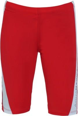 Aquamagica Solid Boy's Red Basic Shorts