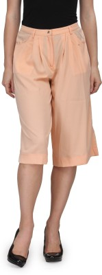 Fashionwalk Solid Women's Orange Bermuda Shorts