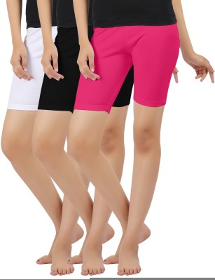 Softwear Solid Women's Multicolor Cycling Shorts