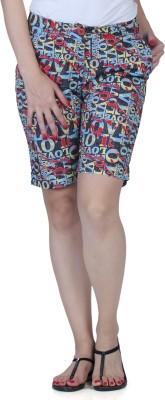 Fast n Fashion Printed Women's Red, Grey Night Shorts