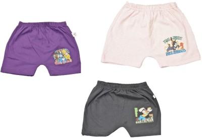 Indirang Printed Boy's Purple, Grey, Pink Basic Shorts