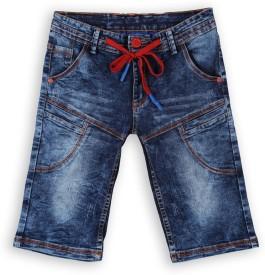 Lilliput Short For Boys Cotton Linen Blend, Cotton Nylon Blend, Cotton Linen Blend(Dark Blue, Pack of 1)