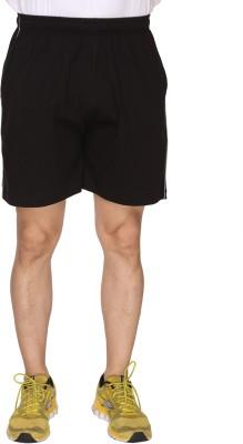SayItLoud Solid Men's Black Gym Shorts