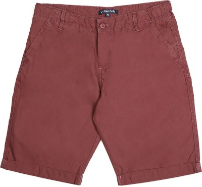 Allen Solly Solid Boy's Maroon Basic Shorts