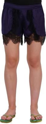 Oxolloxo Self Design Women's Purple Basic Shorts