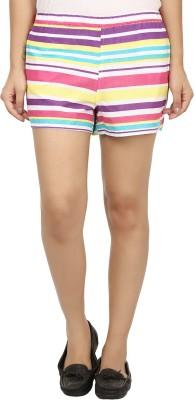 Modimania Striped Women's Multicolor Basic Shorts