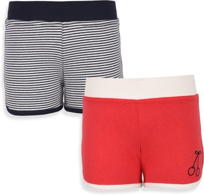 Mothercare Striped Girl's White, Black, Red Night Shorts