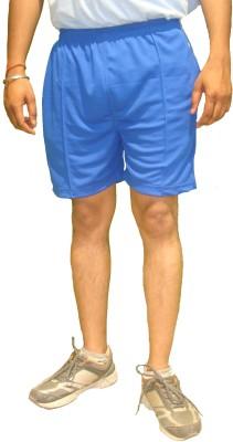 Bodingo Solid Men's Blue Sports Shorts