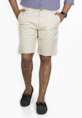 Inspired by Boardriding Solid Men's Beige Basic Shorts