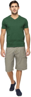 FX Jeans Co Solid Men's Grey Cargo Shorts