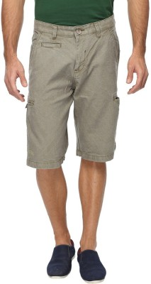 FX Jeans Co Solid Men's Green Cargo Shorts