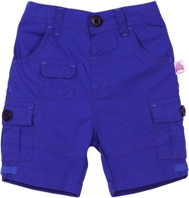 Mom & Me Solid Baby Boy's Blue Cargo Shorts