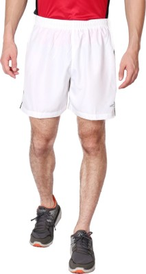 Vector X Solid Men's White Sports Shorts