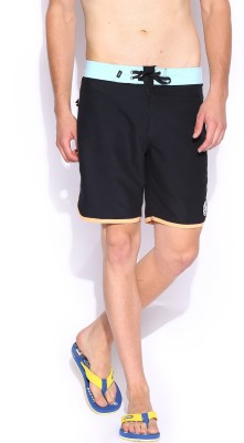 VANS Solid Men's Black Basic Shorts