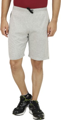 Christy World Solid Men,s Grey Sports Shorts