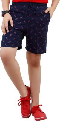 Fizzi Printed Men's Dark Blue Bermuda Shorts