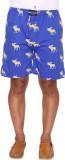 Ramarrow Printed Men's Blue Bermuda Shor...