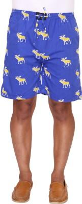 Ramarrow Printed Men's Blue Bermuda Shorts