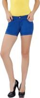 Fashion Stylus Women's Clothing - Fashion Stylus Solid Women's Denim Blue Denim Shorts