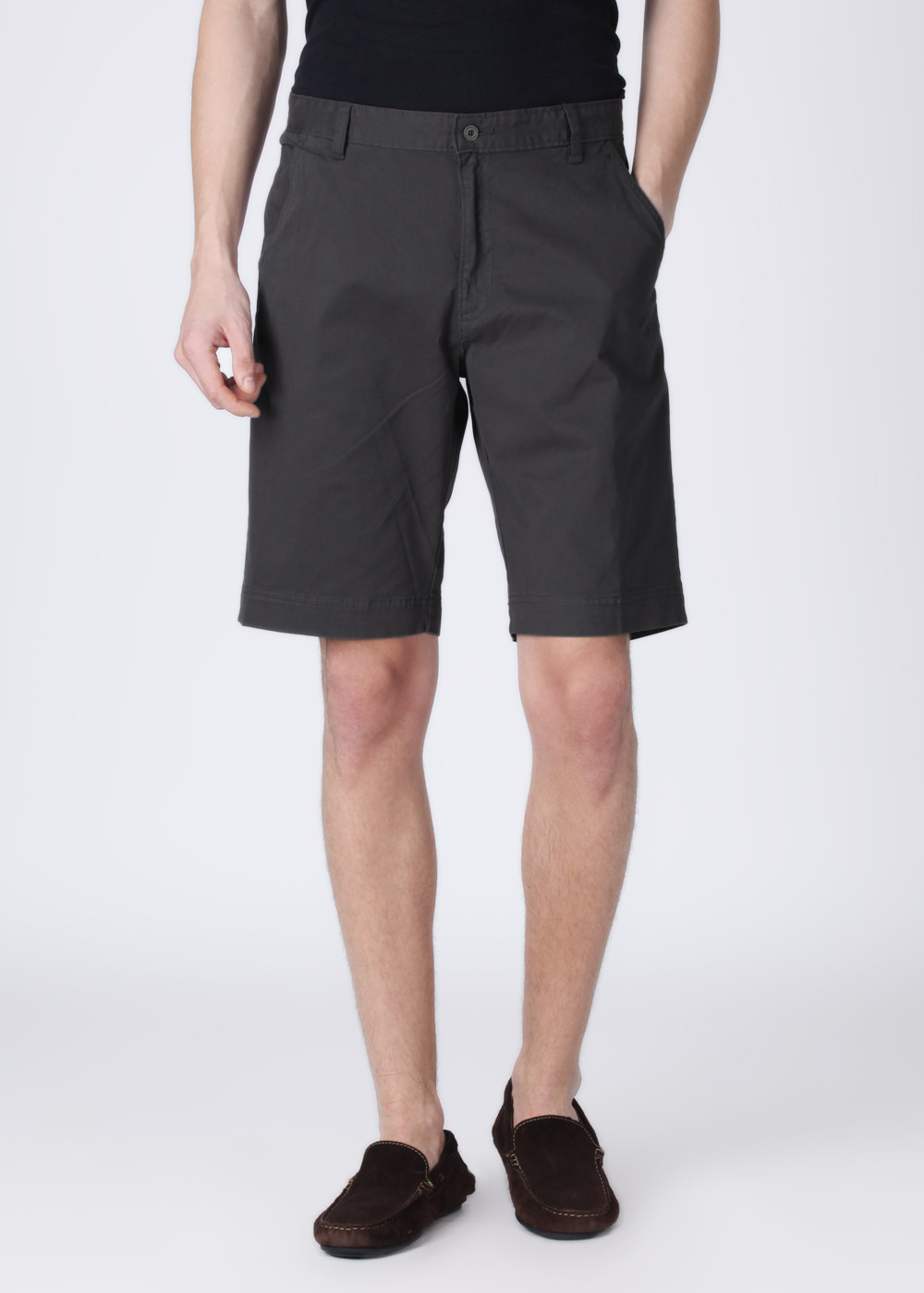Manchester United Solid Men's Grey Shorts