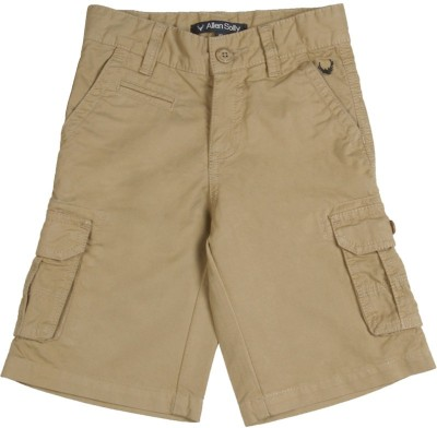 Allen Solly Solid Boy's Brown Basic Shorts