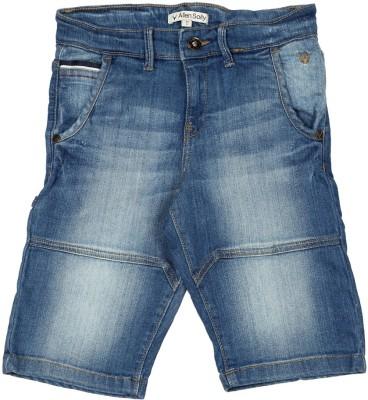Allen Solly Solid Boy's Blue Denim Shorts