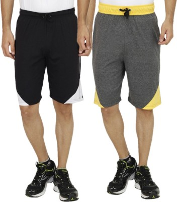 Candy House Solid Men's Multicolor Sports Shorts