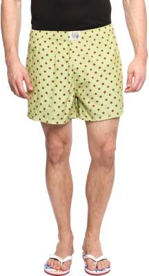 Zovi Printed Men's Green Boxer Shorts