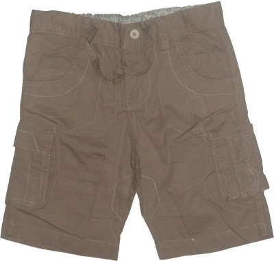 Red Rose Woven Boy's Beige Cargo Shorts