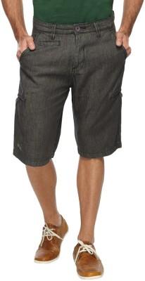 FX Jeans Co Solid Men's Black Cargo Shorts