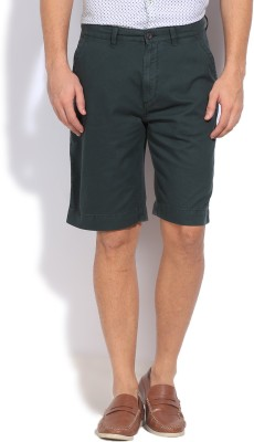 Arrow Sports Solid Men's Green Basic Shorts
