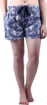 Vixenwrap Floral Print Women's Blue Night Shorts at flipkart