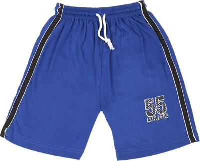 Rishan Solid Boy's Dark Blue Basic Shorts