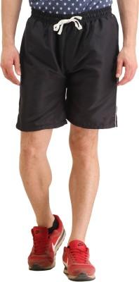 SPAWN Self Design Men's Black Basic Shorts