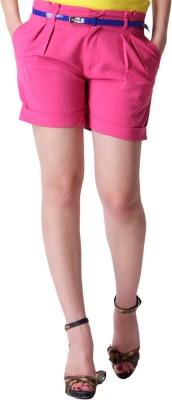 Trendy Divva Self Design Women's Pink Basic Shorts