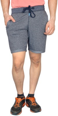 London Eye Self Design Men's Blue Gym Shorts