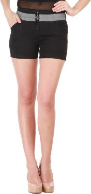 Star Style Solid Women's Black Hotpants
