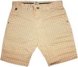 Rasonn Printed Men's Yellow Basic Shorts