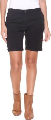 Alibi By Inmark Solid Women's Black Basic Shorts