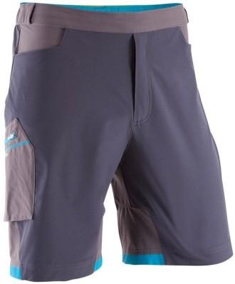 Quechua Solid Men's Grey Sports Shorts