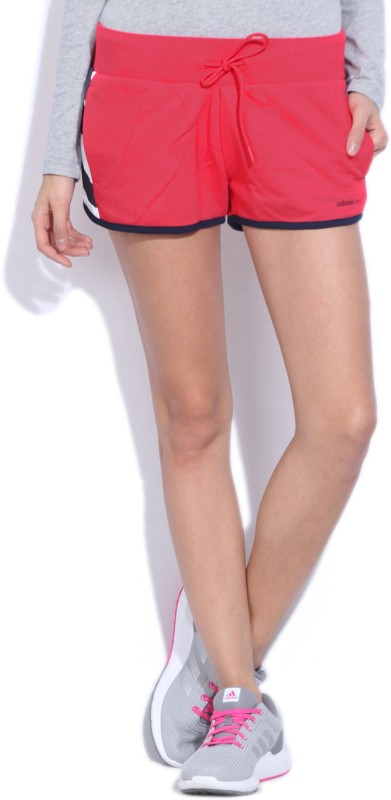 Adidas Solid Women's Red Sports Shorts