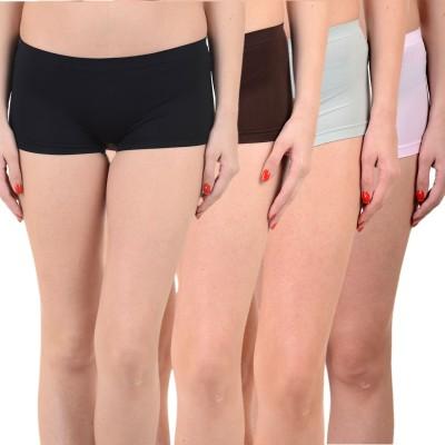 Mynte Solid Women's Black, Black, Blue, Pink Cycling Shorts, Gym Shorts, Swim Shorts