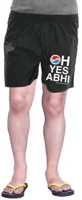Wear Your Opinion Printed Men's Black Boxer Shorts