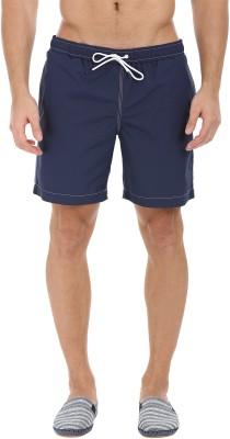 Zobello Solid Mens Blue Swim Shorts