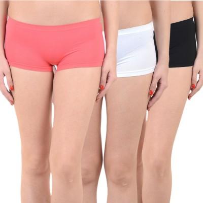 Mynte Solid Women's Red, White, Black Cycling Shorts, Gym Shorts, Swim Shorts