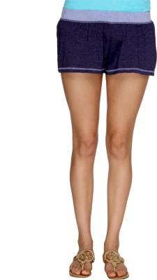 Karishma Solid Women's Dark Blue Basic Shorts