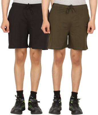 SPN Garments Solid Men's Brown, Black Sports Shorts