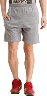 SPAWN Self Design Men's Grey Basic Shorts