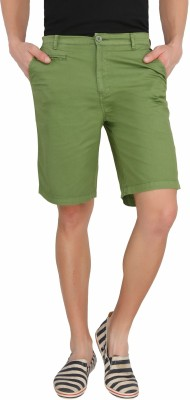 Imagica Solid Men's Light Green Basic Shorts