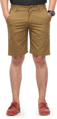 Haute Couture Solid Men,s Brown Chino Shorts